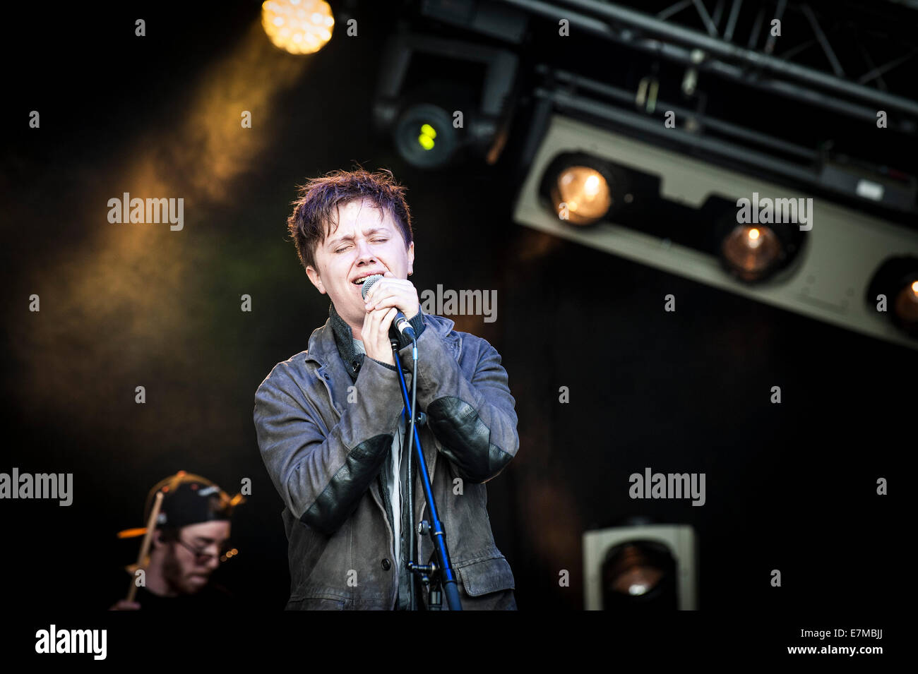Nothing But Thieves performing at the Brownstock Festival in Essex. - Stock Image