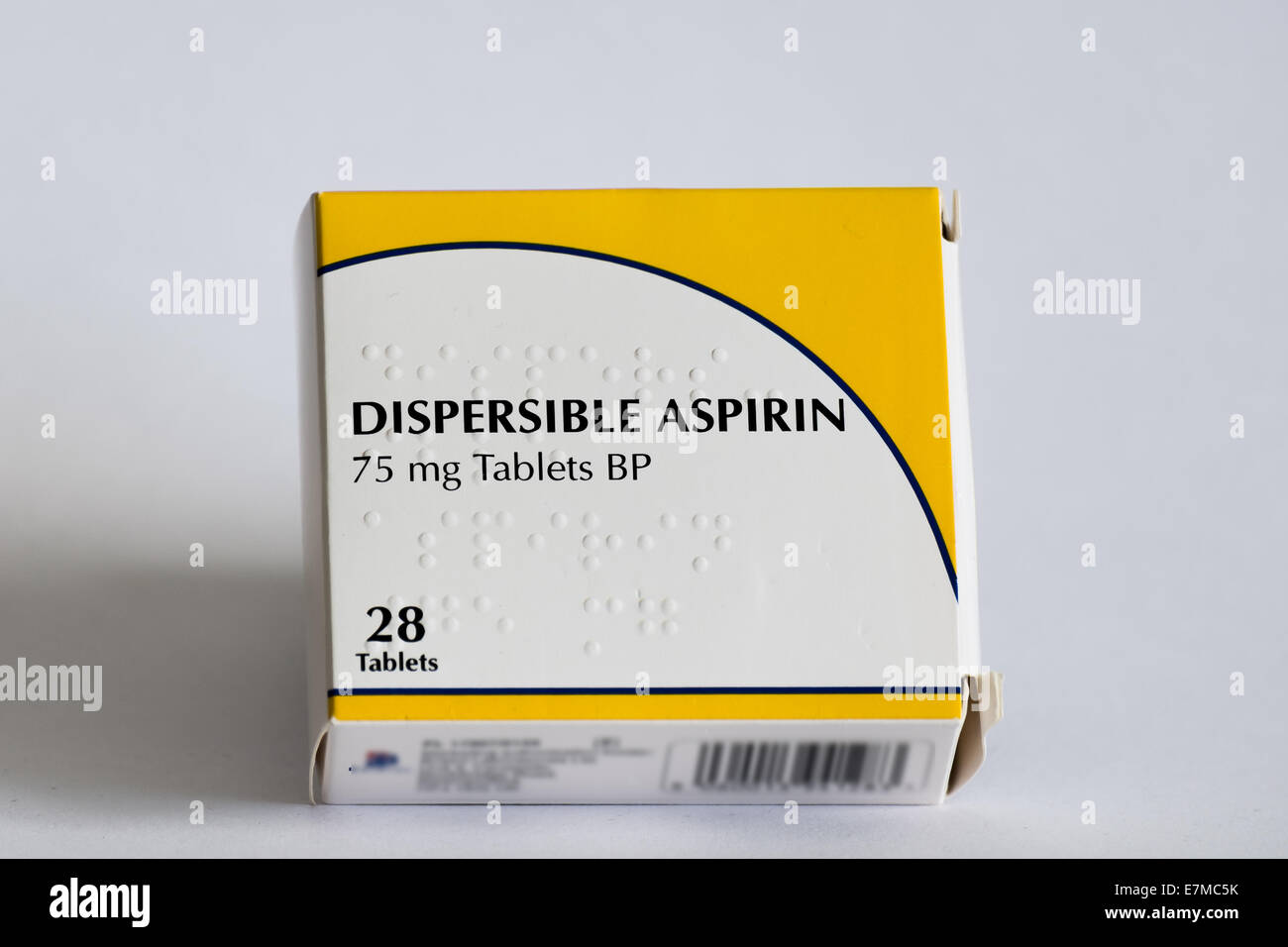 Aspirin is an antiplatelet medicine, which means it reduces the risk of clots forming in your blood. - Stock Image