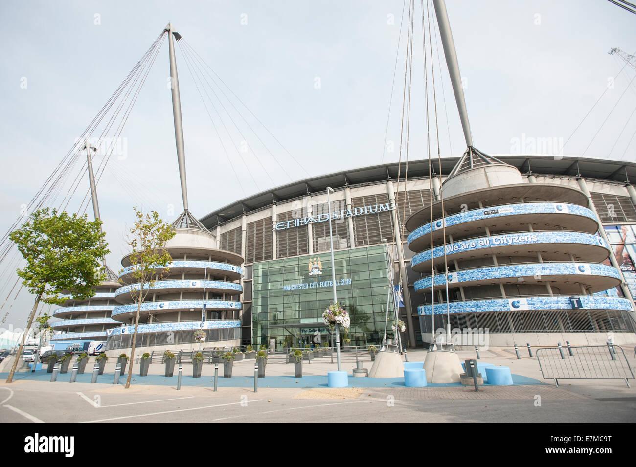 Manchester City F.C. Etihad Stadium. - Stock Image