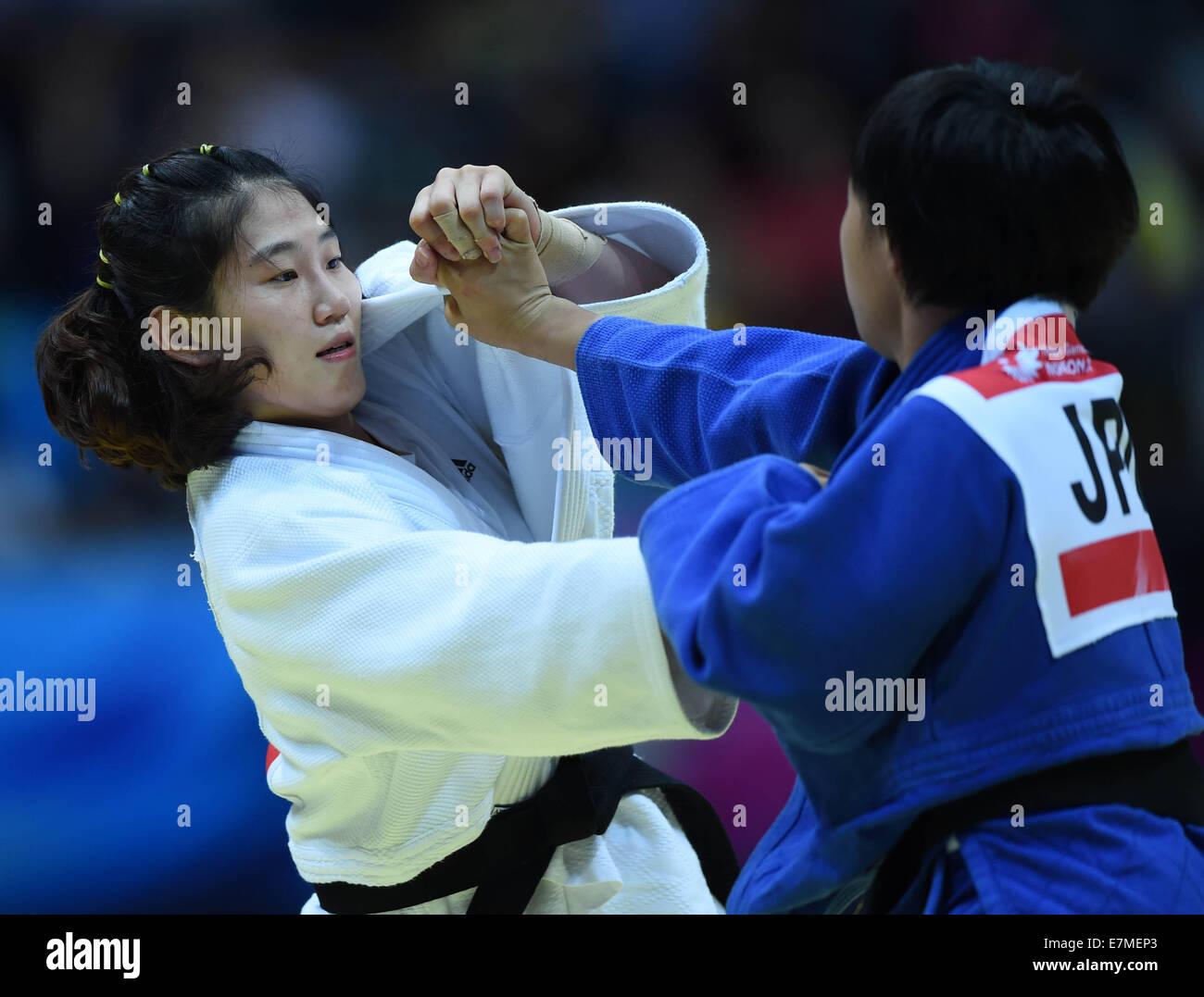 Imagenes De Jandi incheon, south korea. 21st sep, 2014. kim jandi (l) of south