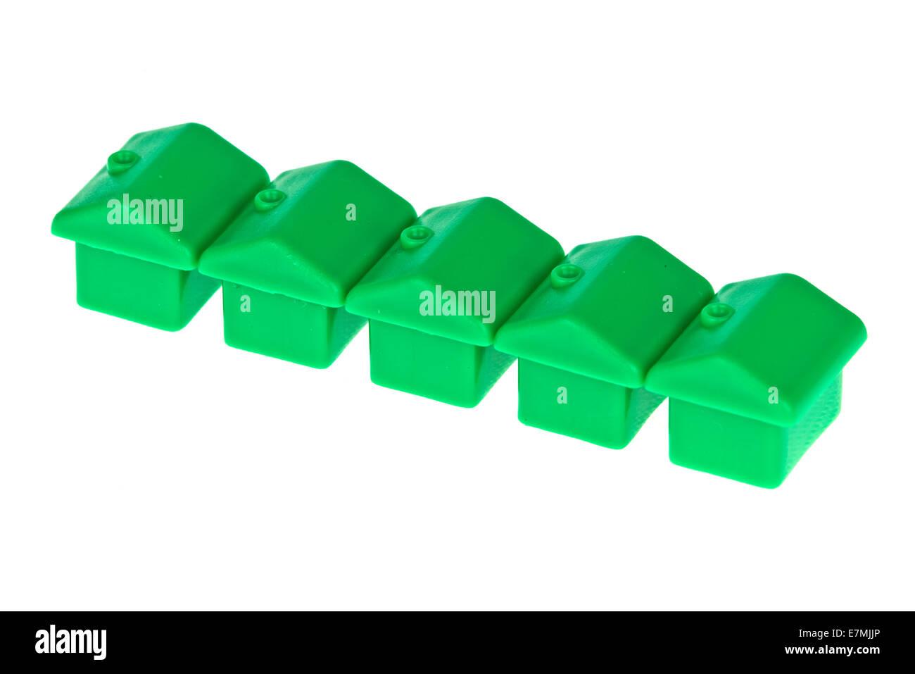 Diagonal Toy Monopoly Houses - Stock Image