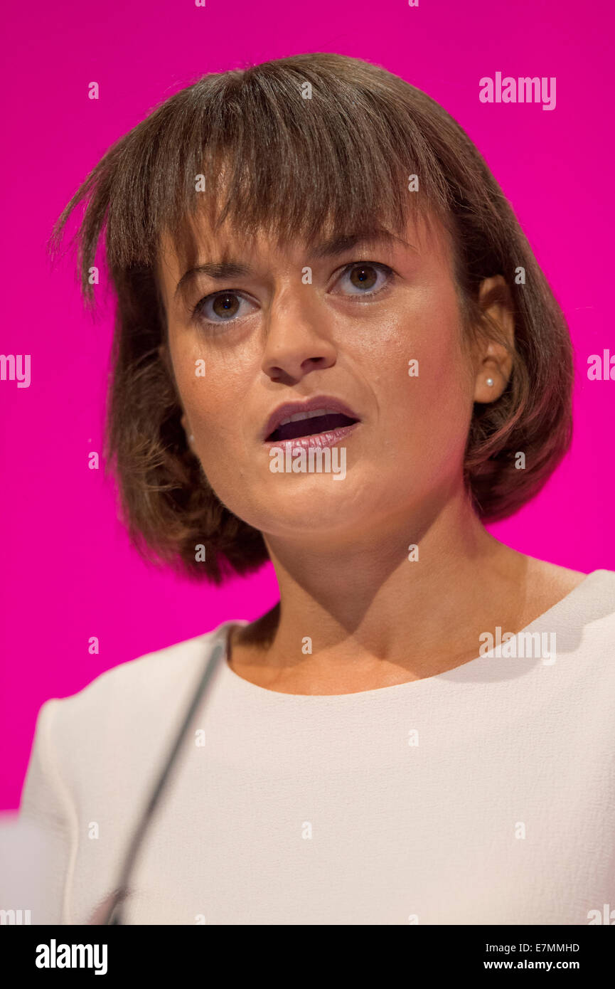 Manchester, UK. 21st Sep, 2014. Johanna Baxter, member of Labour's National Executive Committee, addresses the - Stock Image