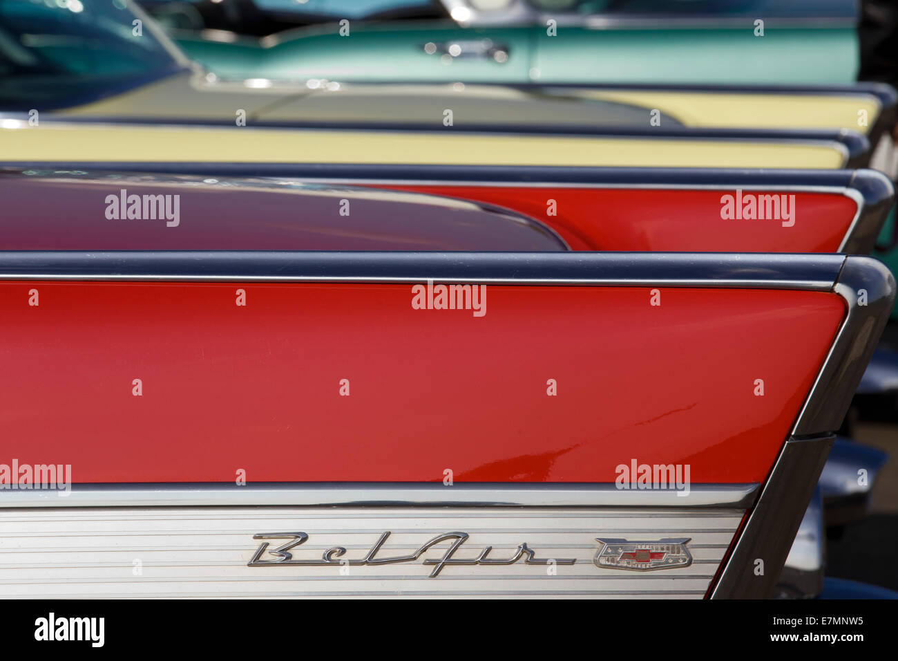 Abstract view of 1950s Chevrolet Bel Airs Chevy. Classic American car - Stock Image