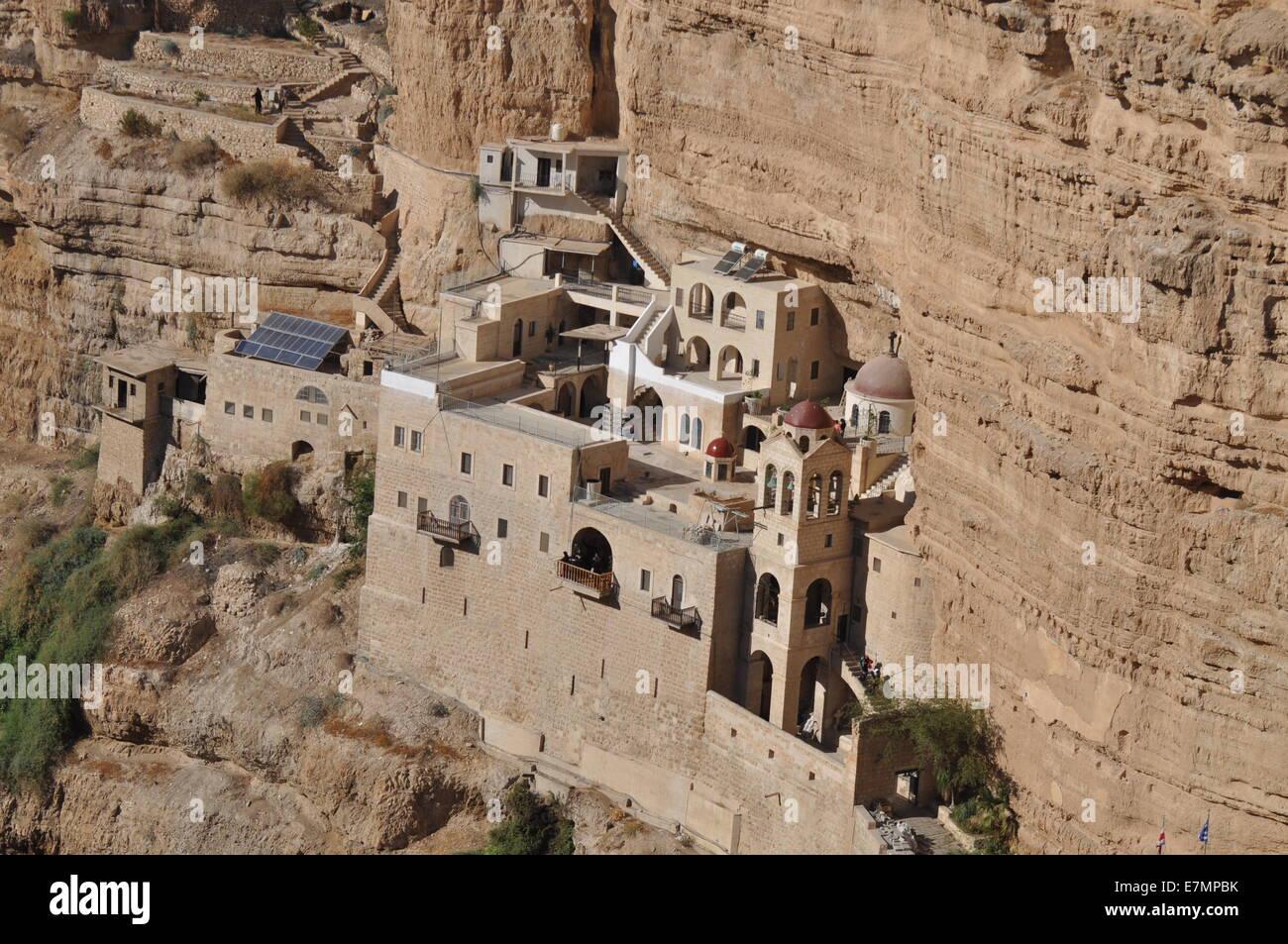 St. George's Monastery in Wadi Qelt near Jericho, Palestine - Stock Image