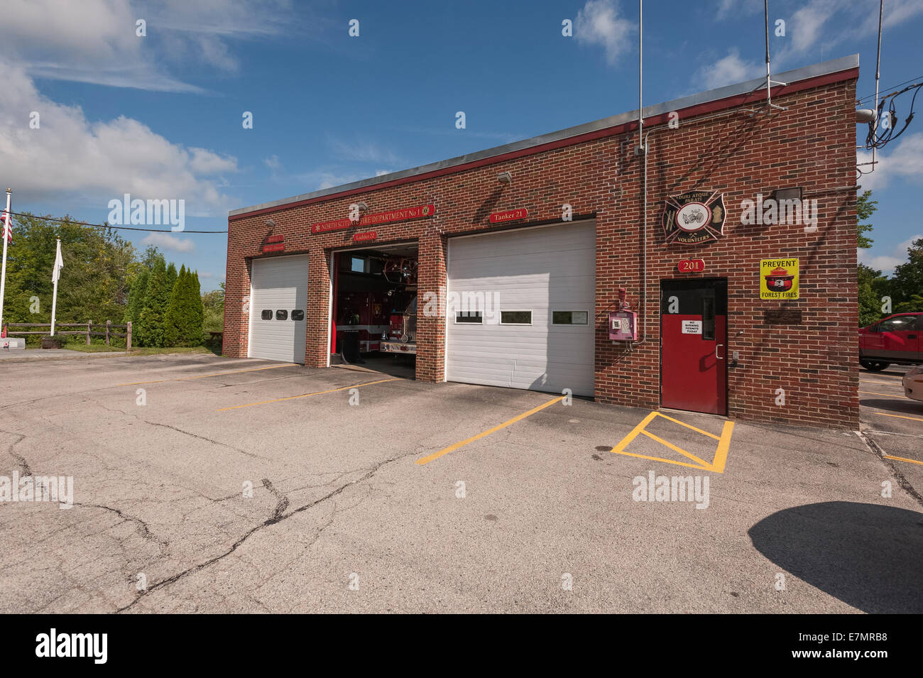 North Scituate, Rhode Island USA Volunteer Fire Department - Stock Image