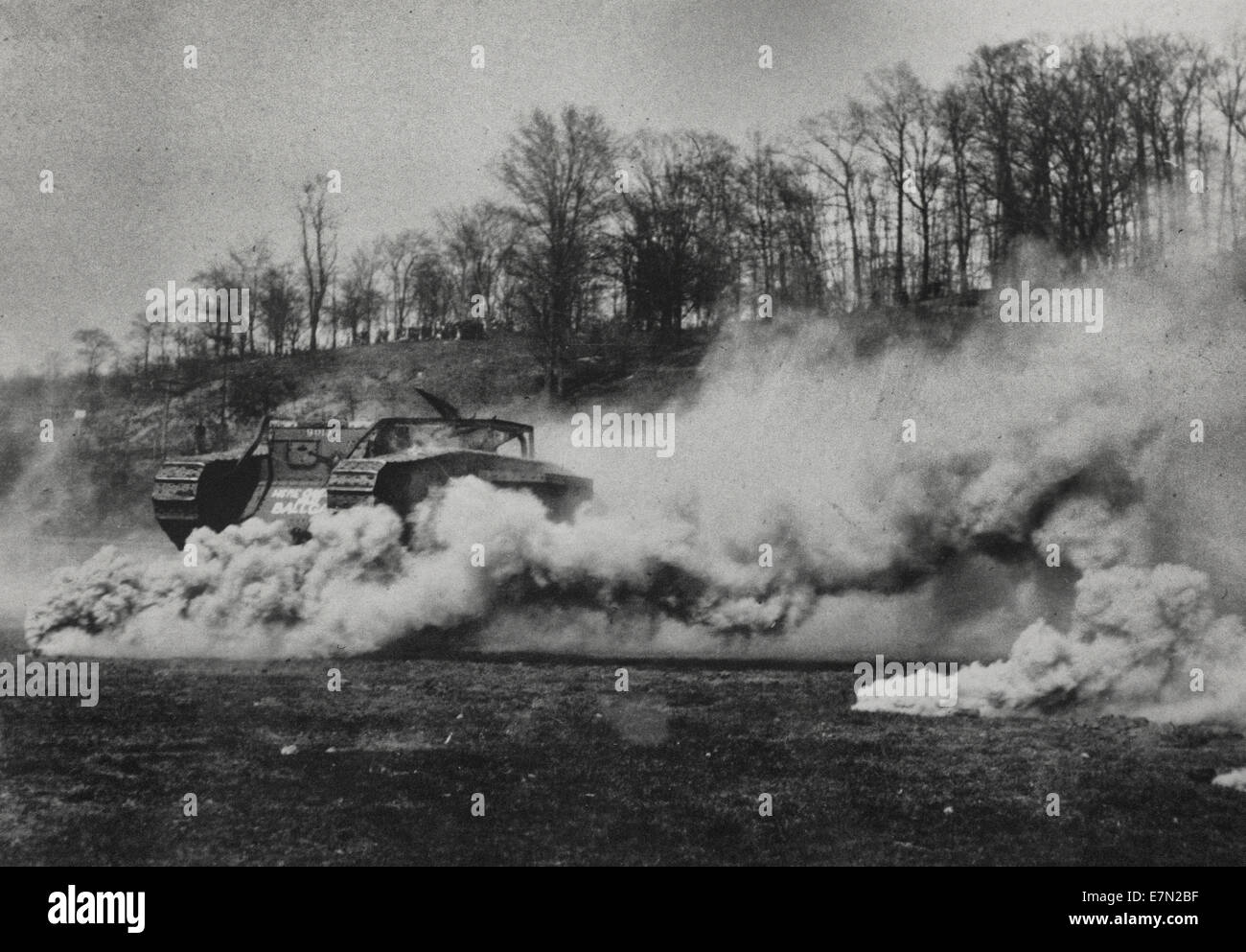 World War I Gas attack, circa 1916 - Stock Image