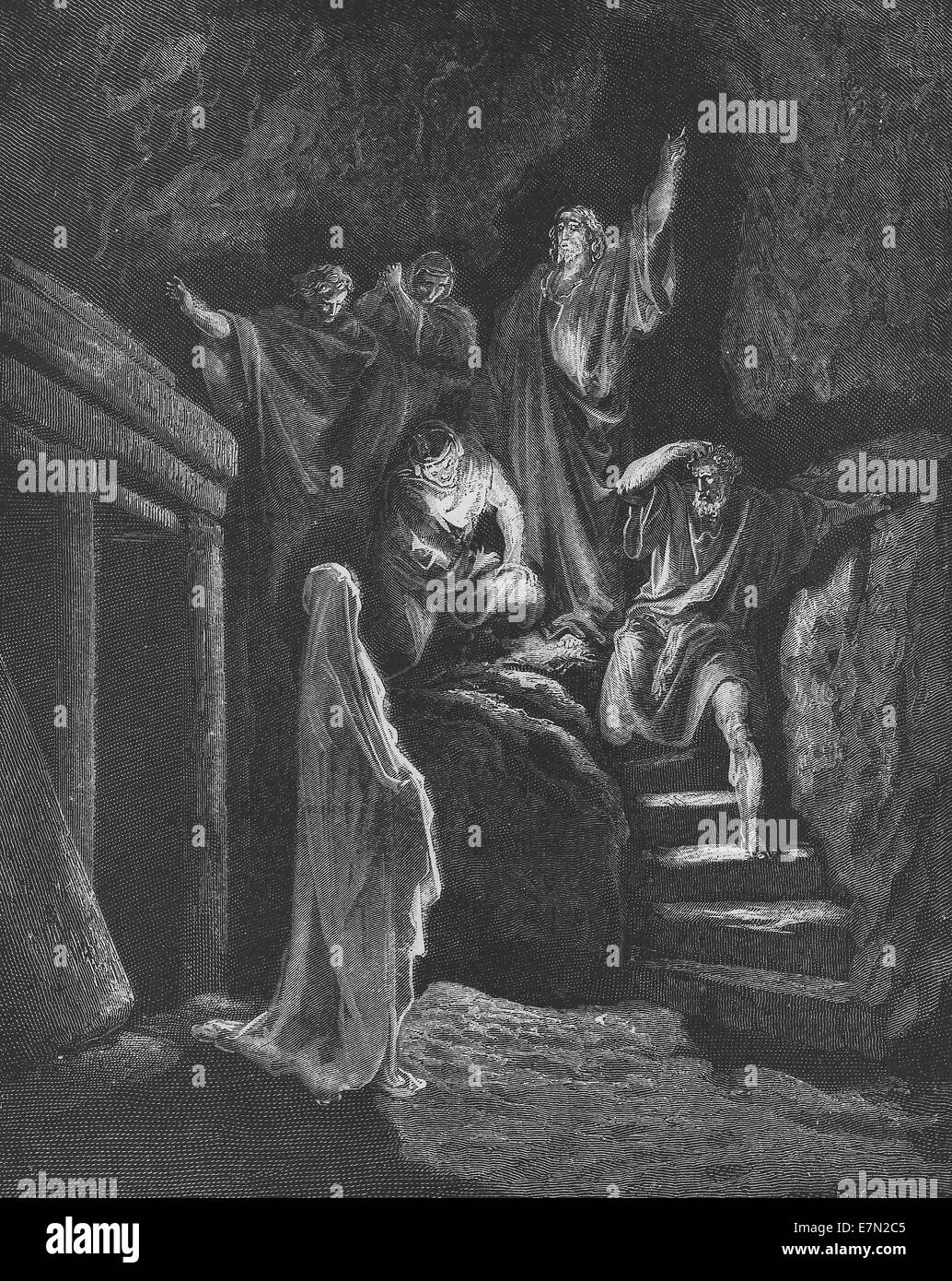 In Lazarus Tomb - New Testament story - Raising from the dead - Stock Image