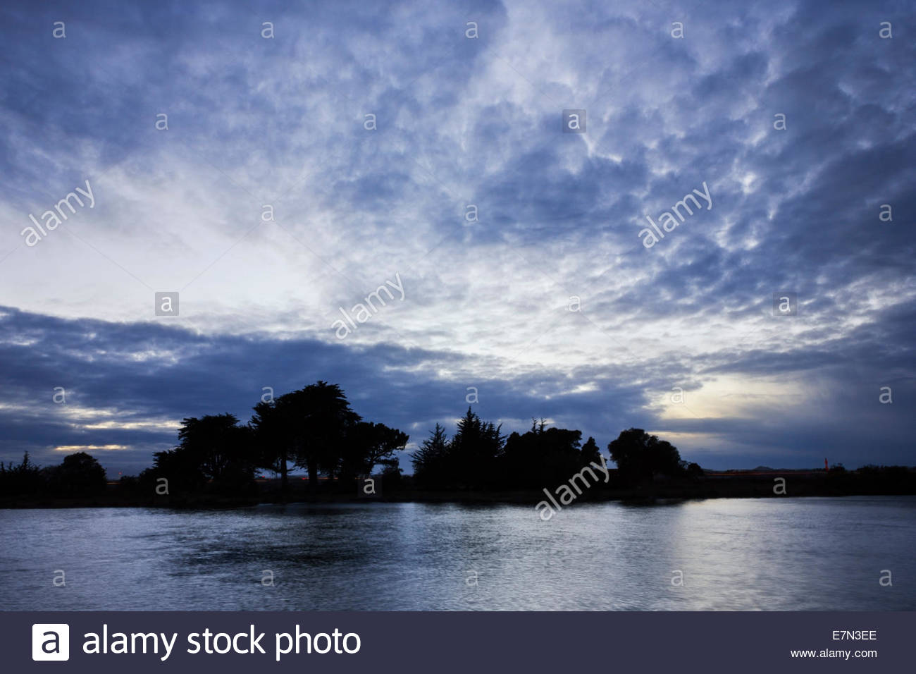 Aquatic Park at Dusk, Berkeley, California - Stock Image