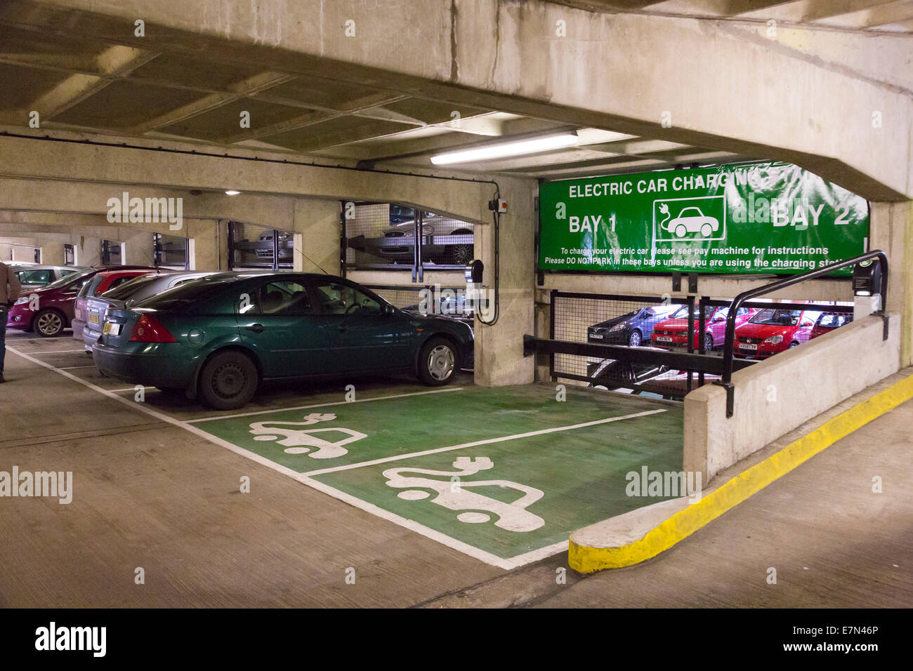 charging point for electric cars - Stock Image