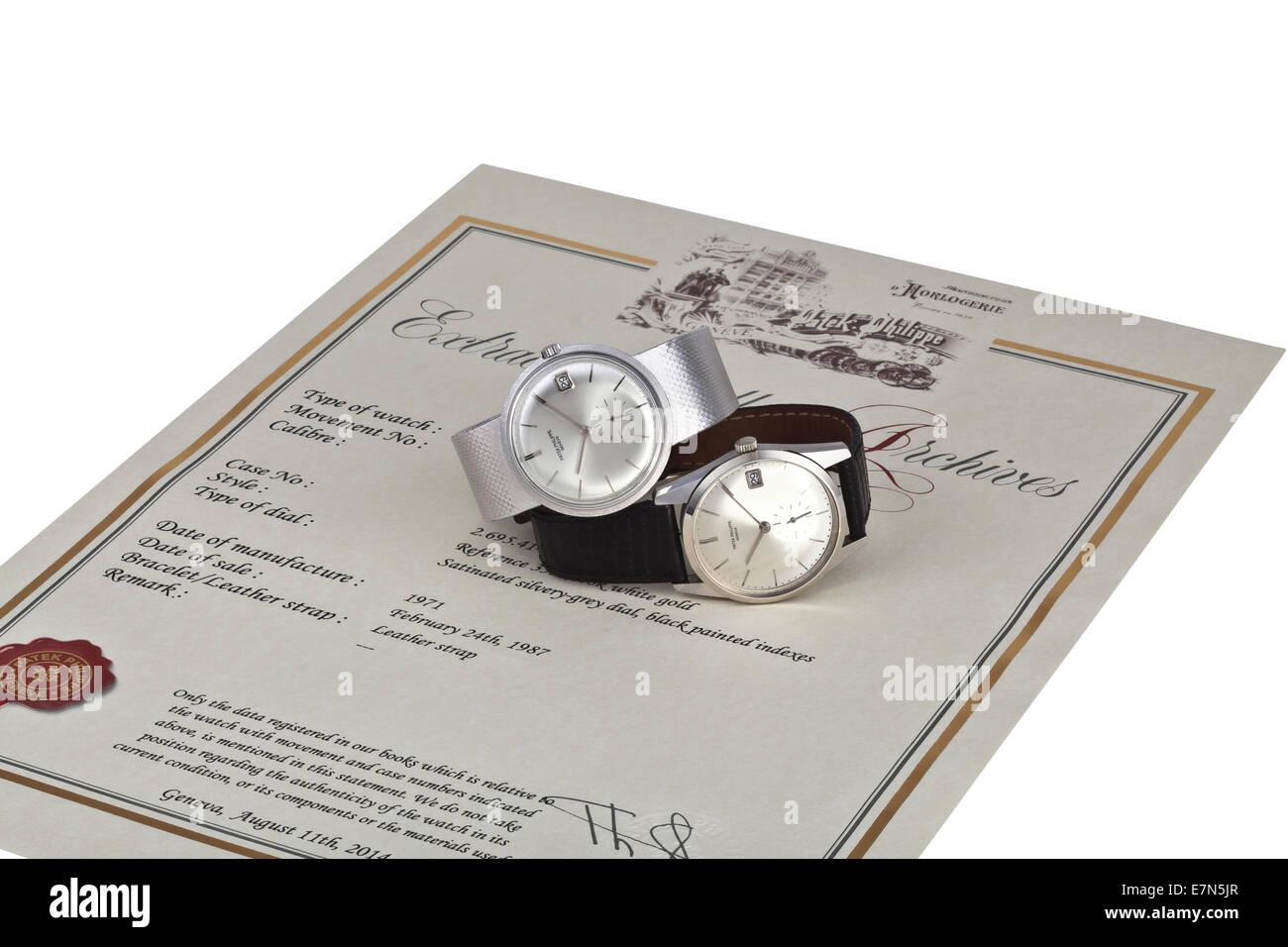 Patek Philippe Wrist Watch - Stock Image