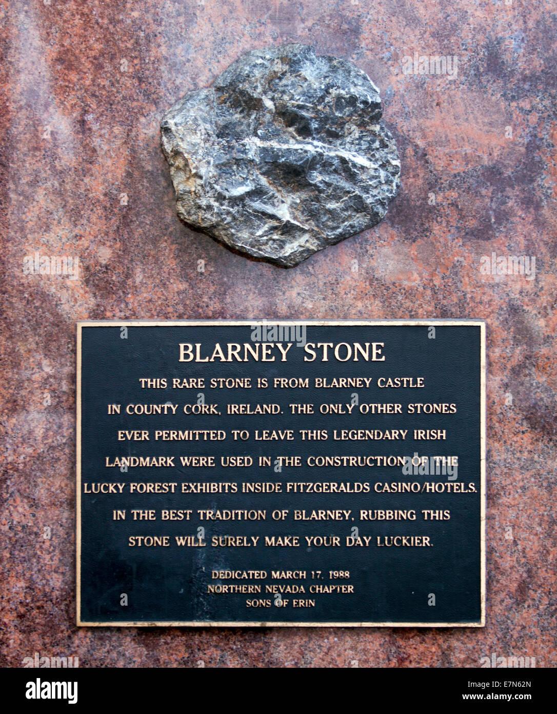 Blarney Stone in Reno Nevada - Stock Image