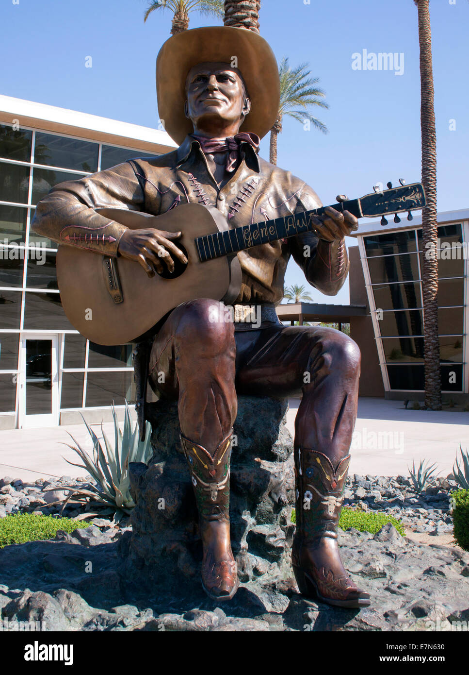 Gene Autry statue in Palm Springs California - Stock Image
