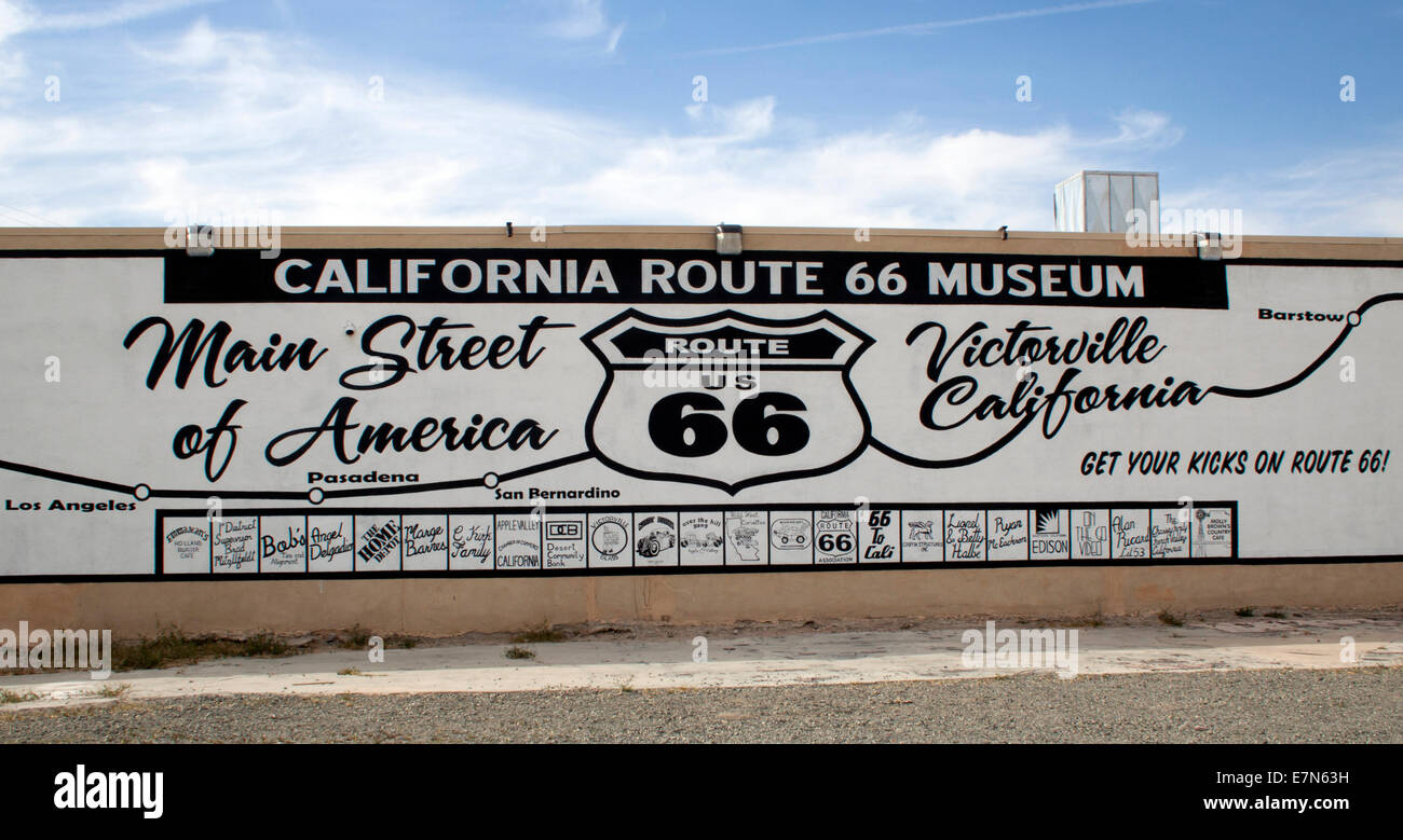 California Route 66 Museum in Victorville - Stock Image