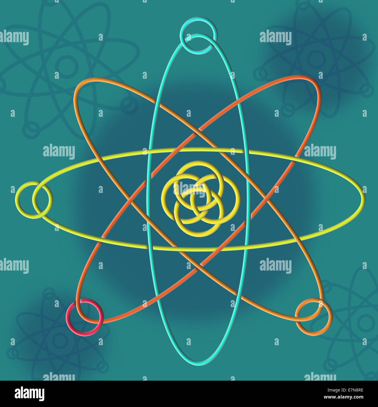 Line Atomic Structure - Stock Image
