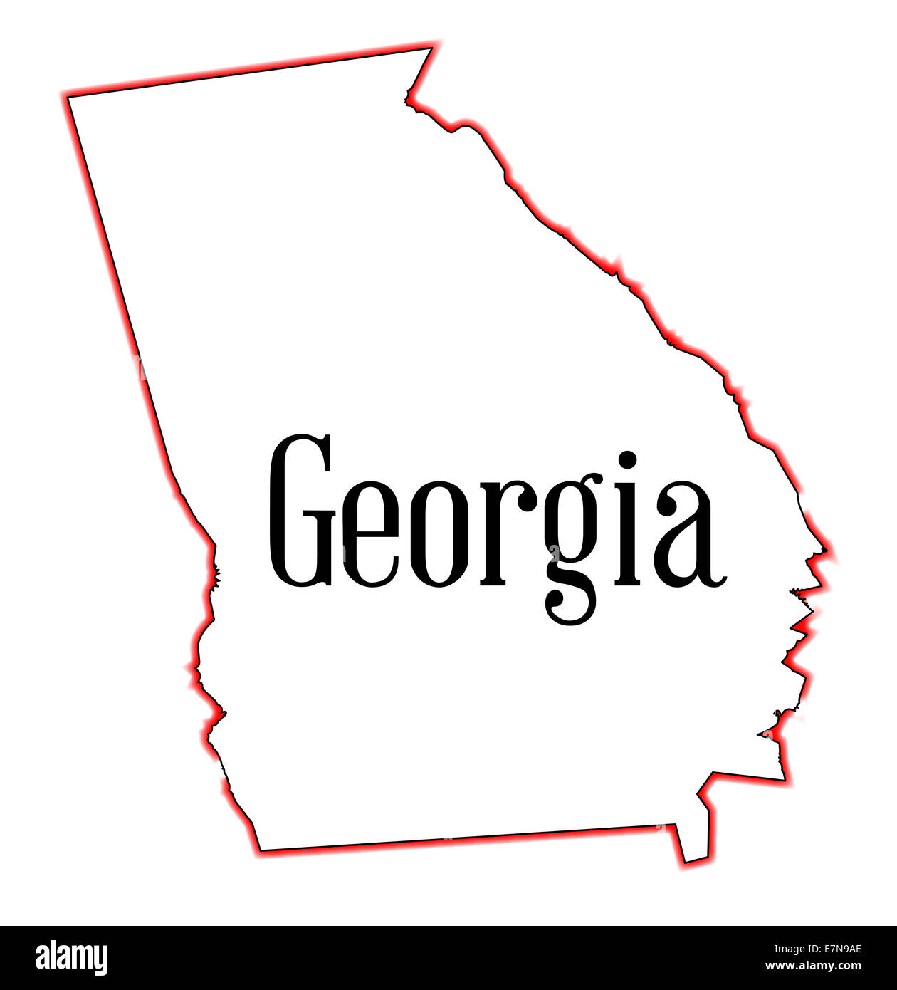 Outline State Georgia United America Cut Out Stock Images Pictures