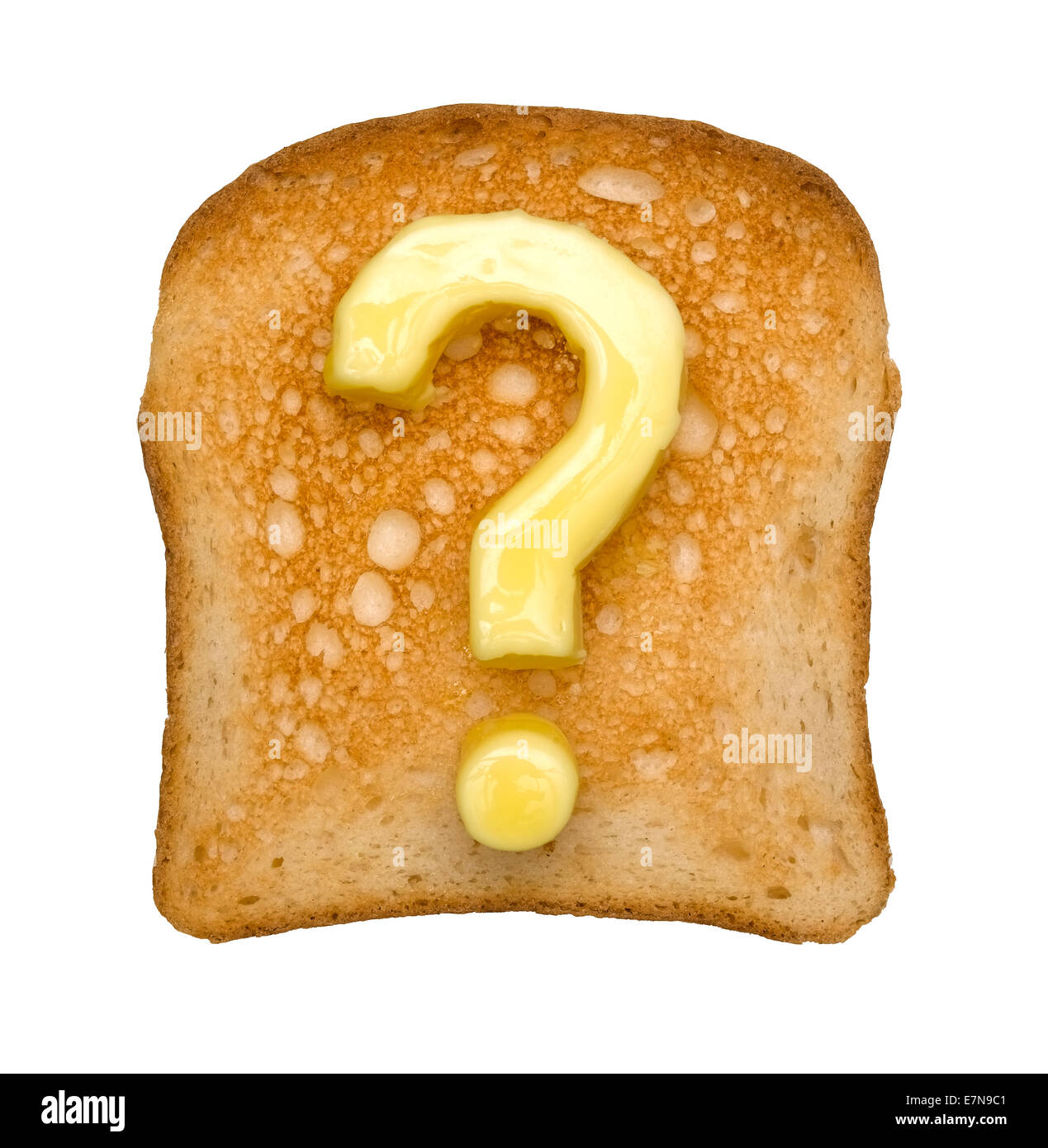 Toast and Question mark - Stock Image