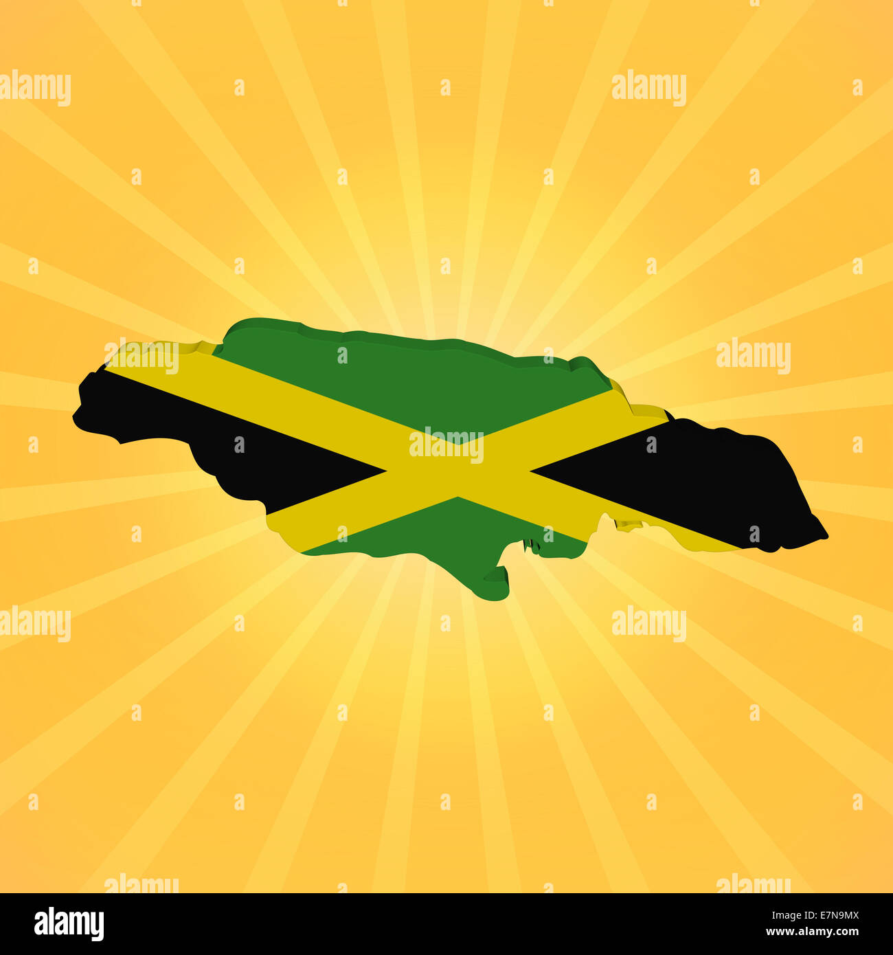 3f94cb0b1 Abstract Flag On Jamaica Map Stock Photos & Abstract Flag On Jamaica ...