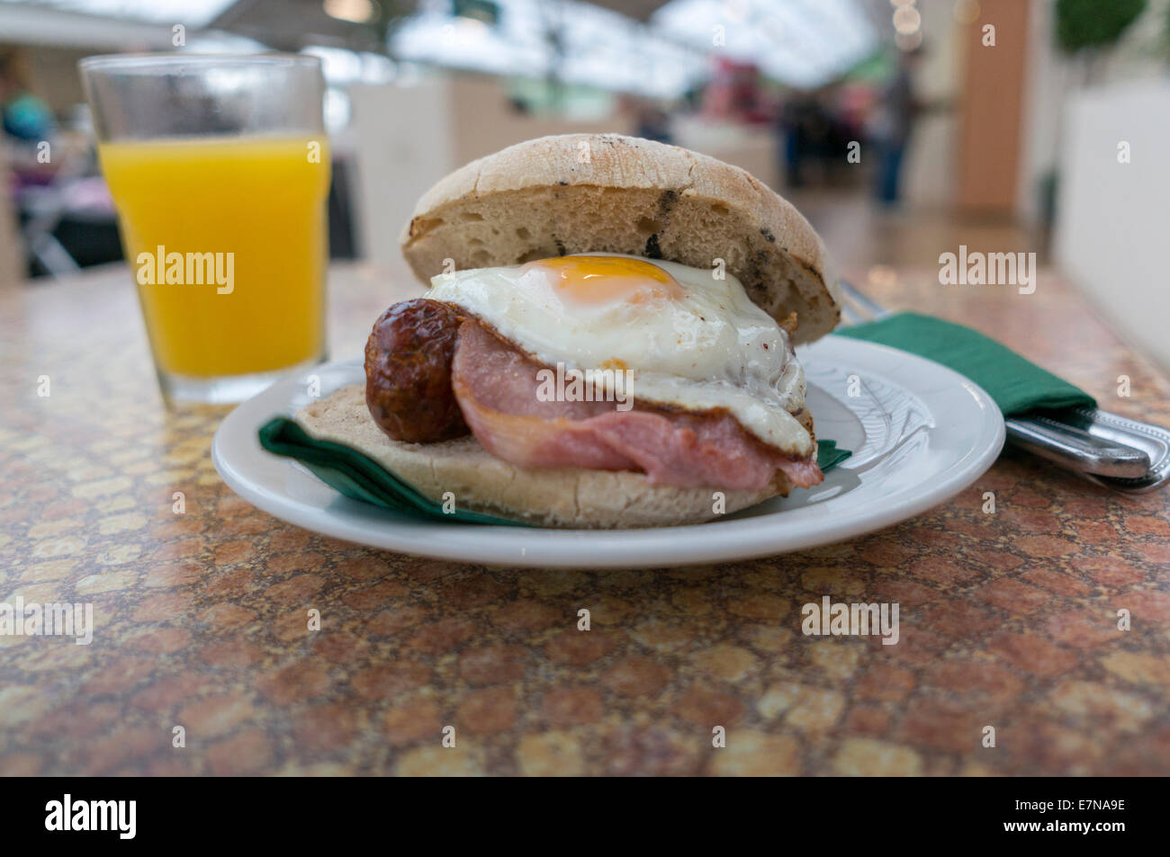 Sough dough breakfast roll - Stock Image