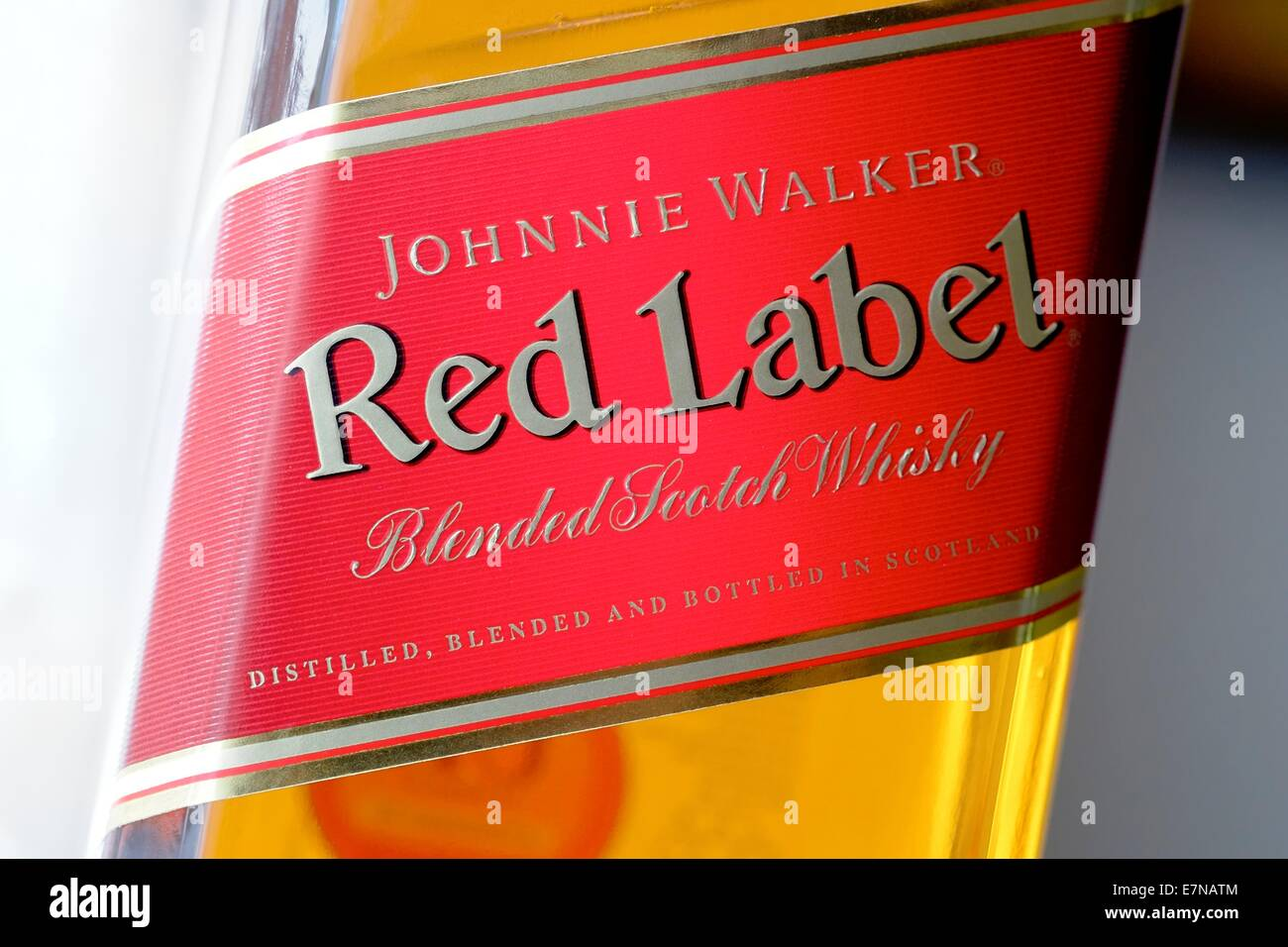 Whisky Red Label Bottle Glass Stock Photos Whisky Red Label Bottle