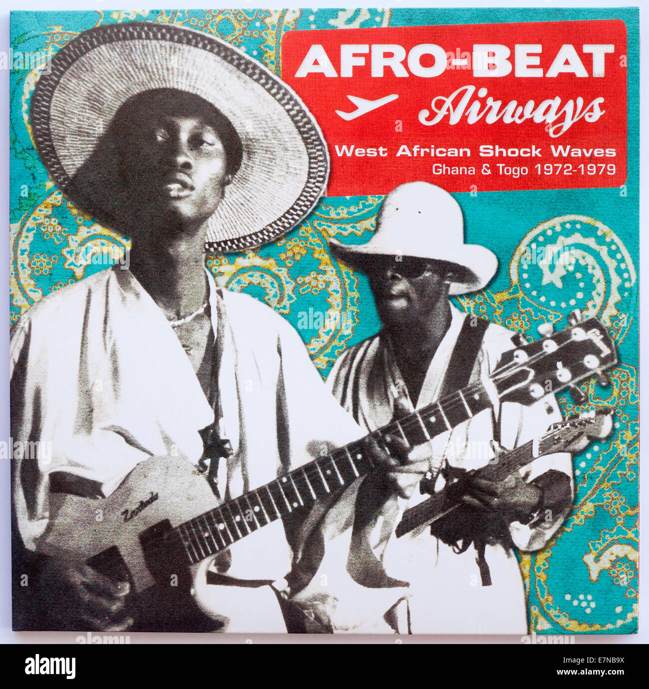 Afro-Beat Airways - West African Shock Waves Ghana & Togo 1972-1979 - 2010 double album on Analog Africa Records. - Stock Image
