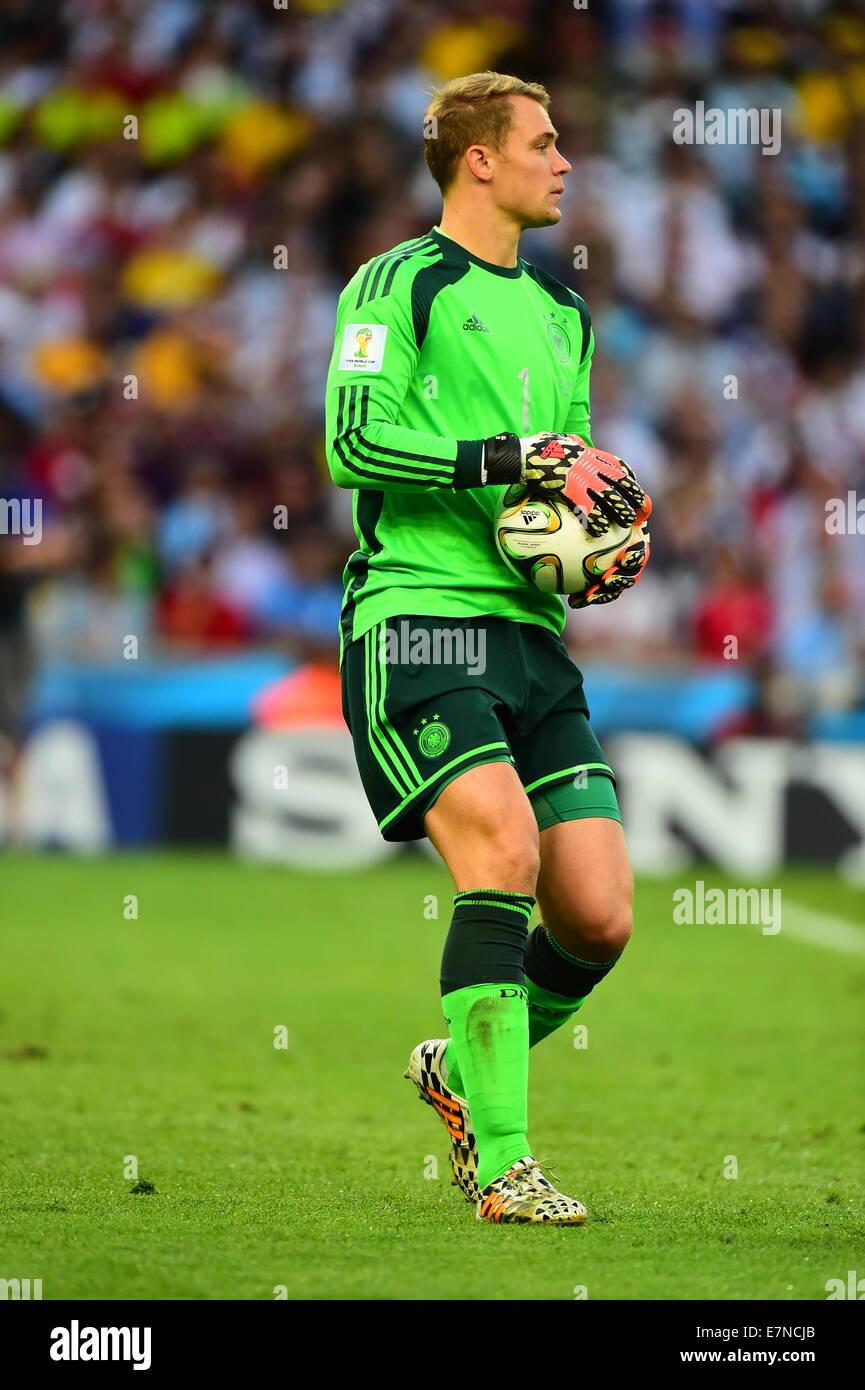 Manuel NEUER. Argentina v Germany. Final. FIFA World Cup 2014 Brazil. Maracana Stadium, Rio. 13 July 2014. - Stock Image