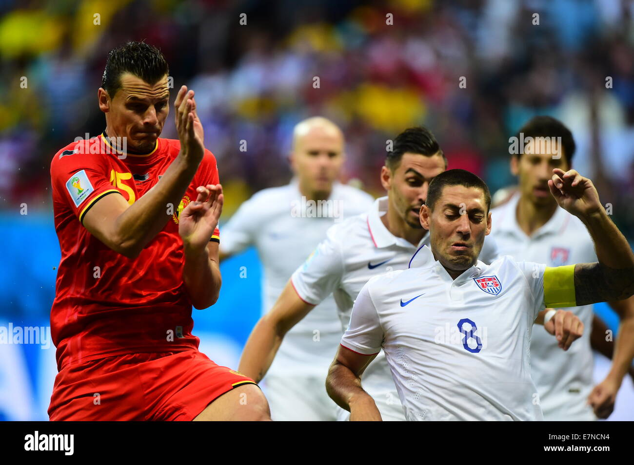 Clint Dempsey. Belgium v USA, round of 16. FIFA World Cup 2014 Brazil. Fonte Nova stadium Salvador. 01 July 2014 - Stock Image
