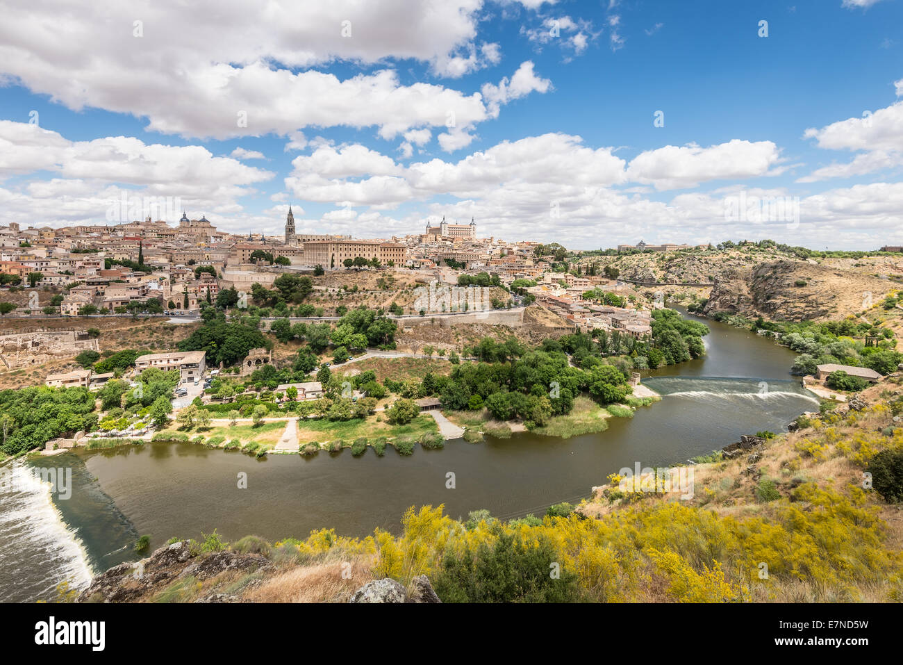 Toledo, beside the Tagus River - Stock Image