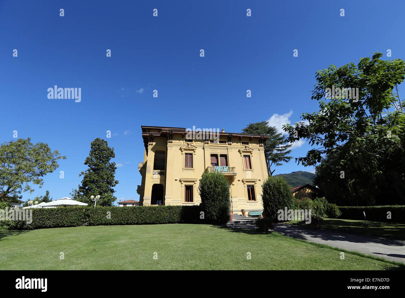 Hotel Villa Moorings, Barga, Tuscany, Italy - Stock Image