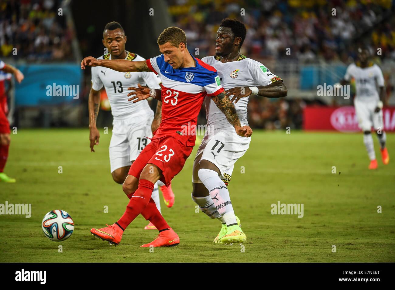Fabian Johnson of USA. Ghana v USA FIFA World Cup 2014. Natal, Brazil. 16 June 2014 - Stock Image