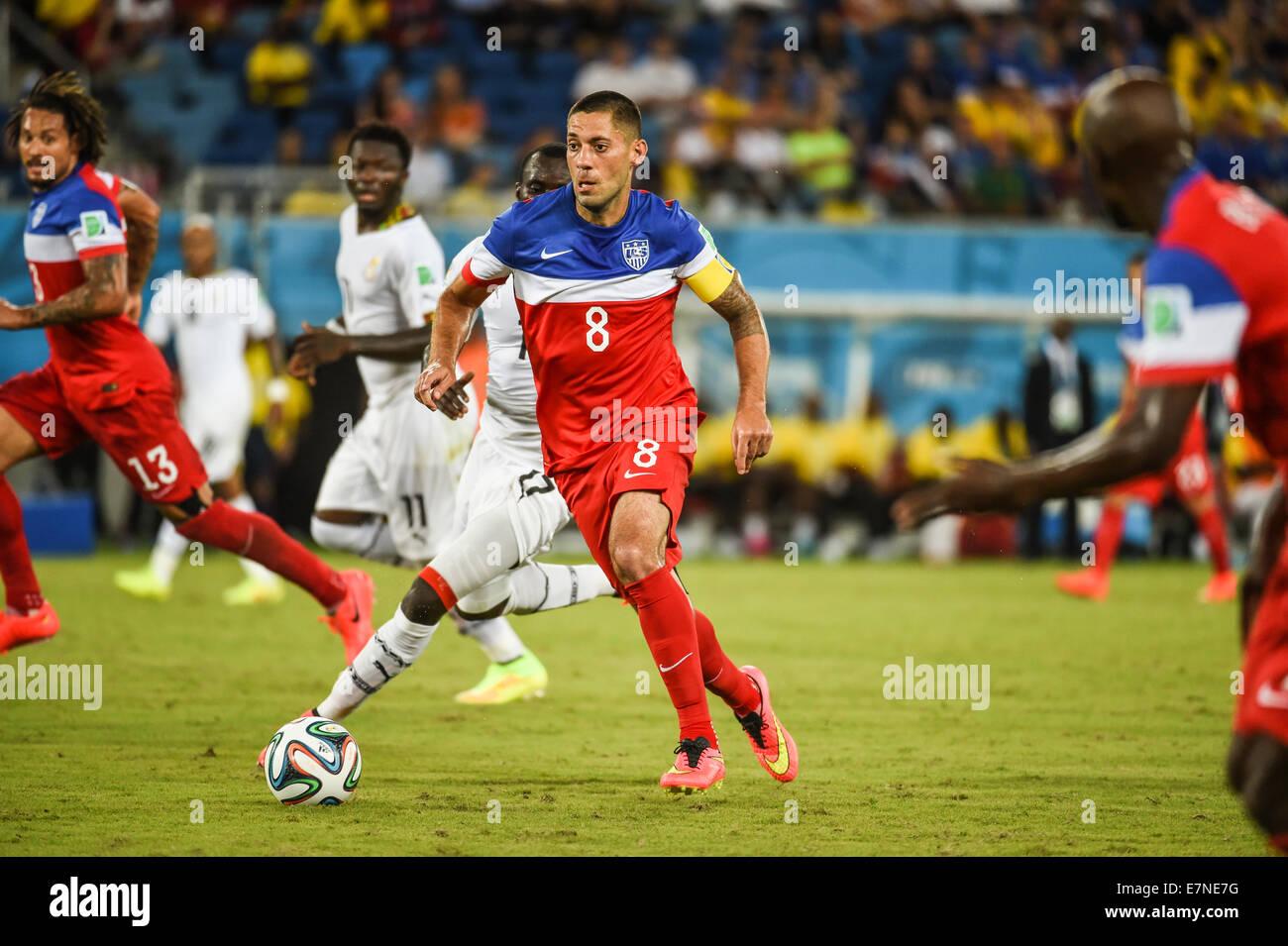 Clint Dempsey of USA. Ghana v USA FIFA World Cup 2014. Natal, Brazil. 16 June 2014 - Stock Image