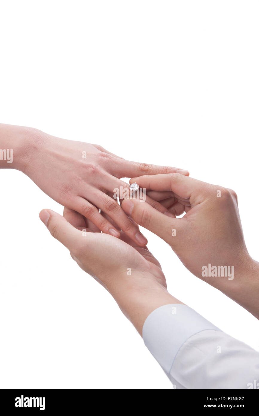 Wearing Diamond Ring Stock Photos & Wearing Diamond Ring Stock ...