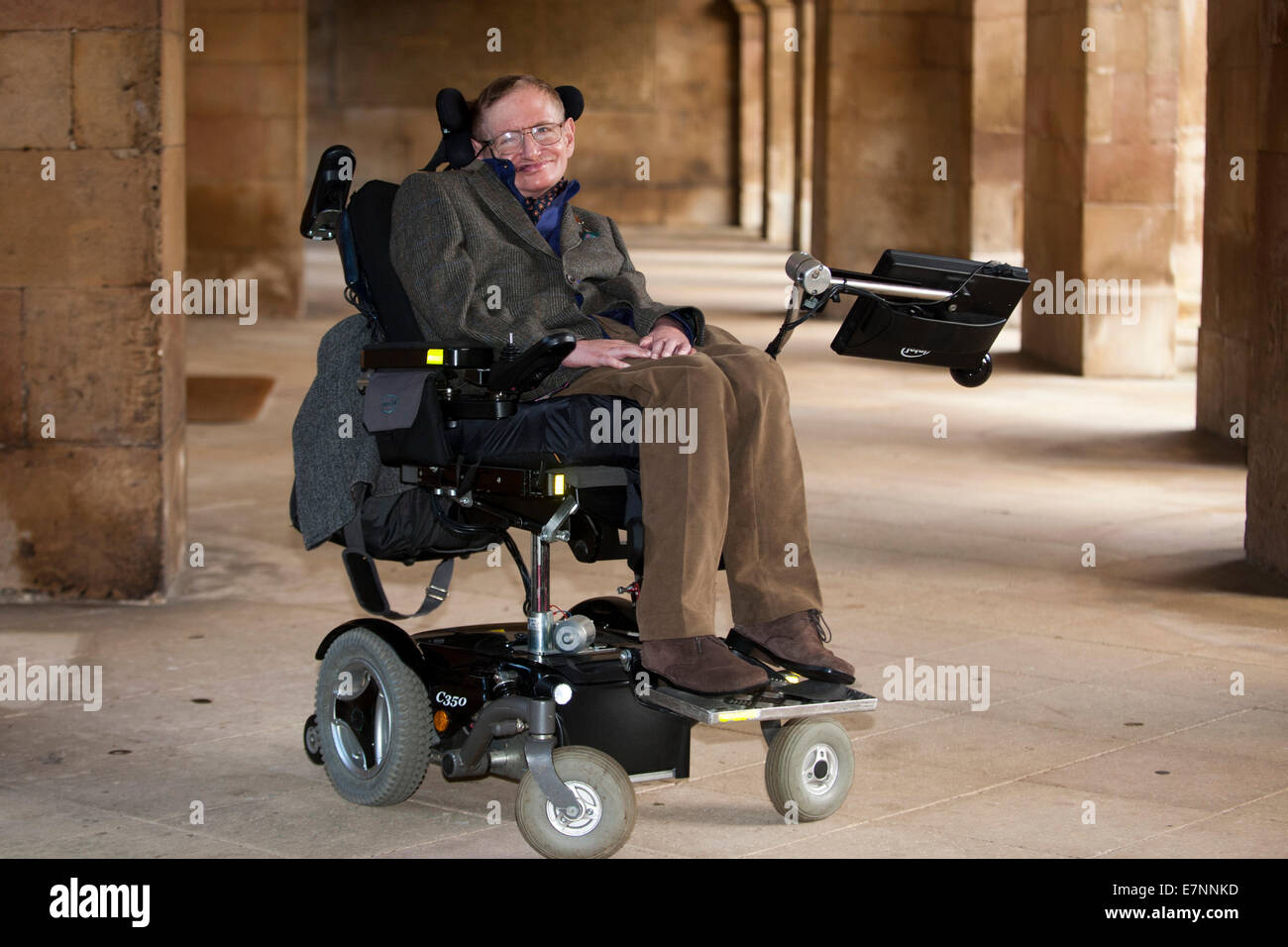 Professor Stephen Hawking at the Premier of the biopic of his life, 'Hawking' which is premiering at a Gala - Stock Image
