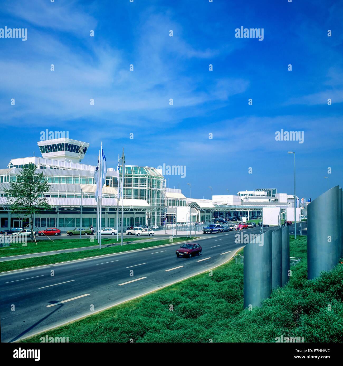 Franz-Joseph Strauss airport Munich Bavaria Germany - Stock Image