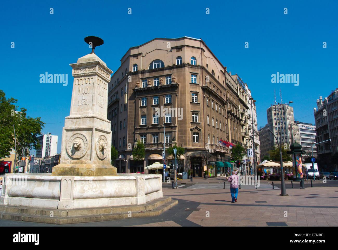 Terazije square, Belgrade, Serbia, Southeastern Europe Stock Photo