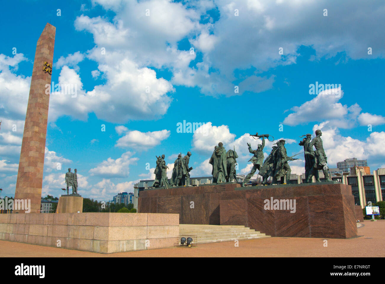 Monument to the Heroic Defenders of Leningrad (1970), Ploshchad Popedy, Victory square, Moskovsky district, Saint - Stock Image
