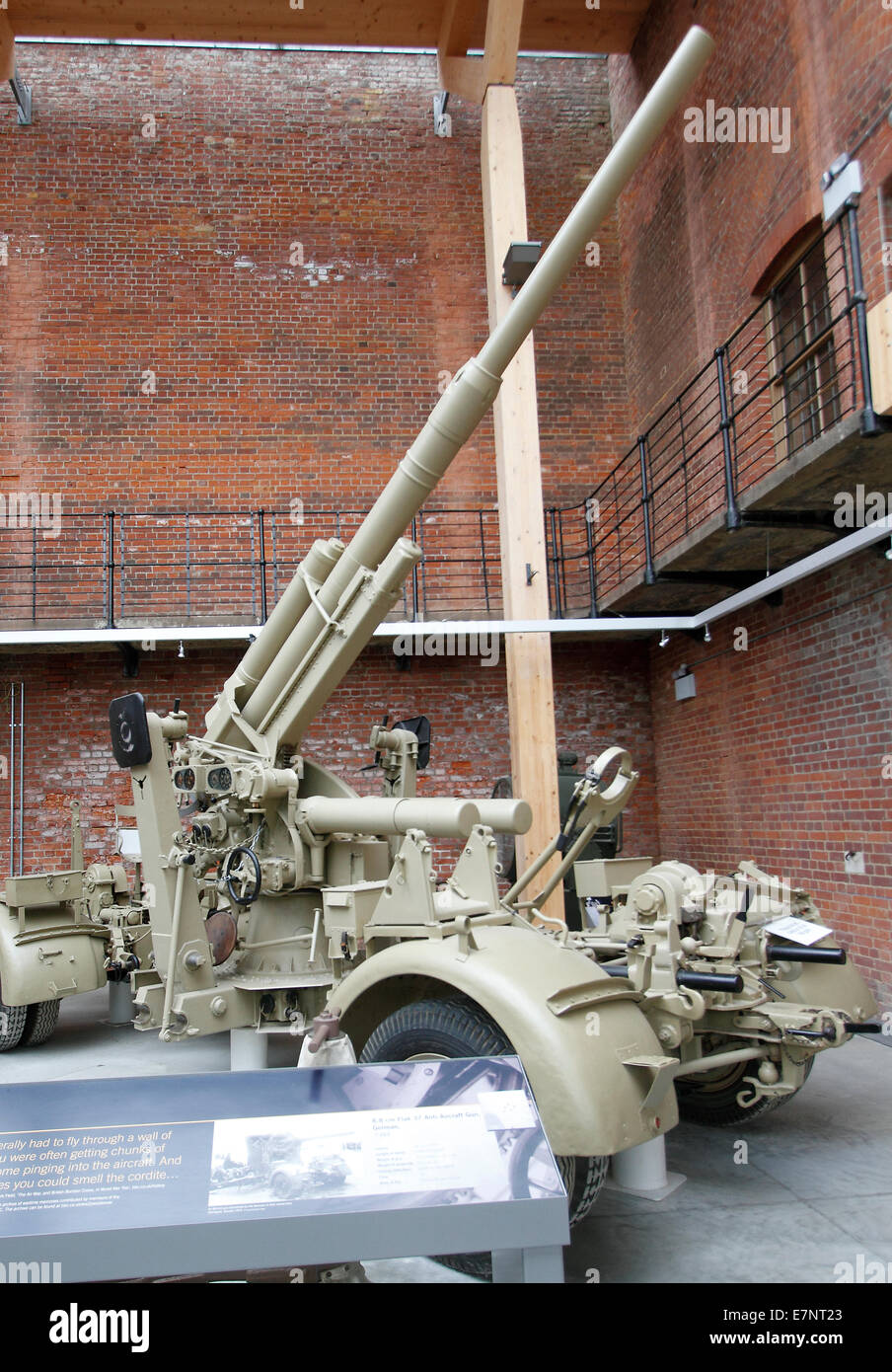 The famous German WWII 88mm flak gun - 8.8cm 37 anti-aircraft gun Fort Nelson - Stock Image