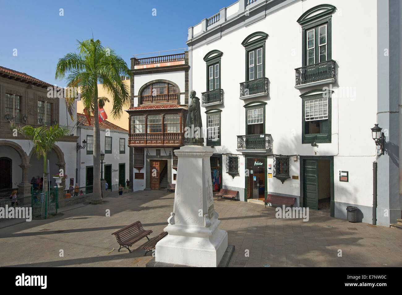 Canaries, Canary islands, isles, La Palma, Spain, Europe, outside, day, nobody, facade, tradition, Traditionally, - Stock Image