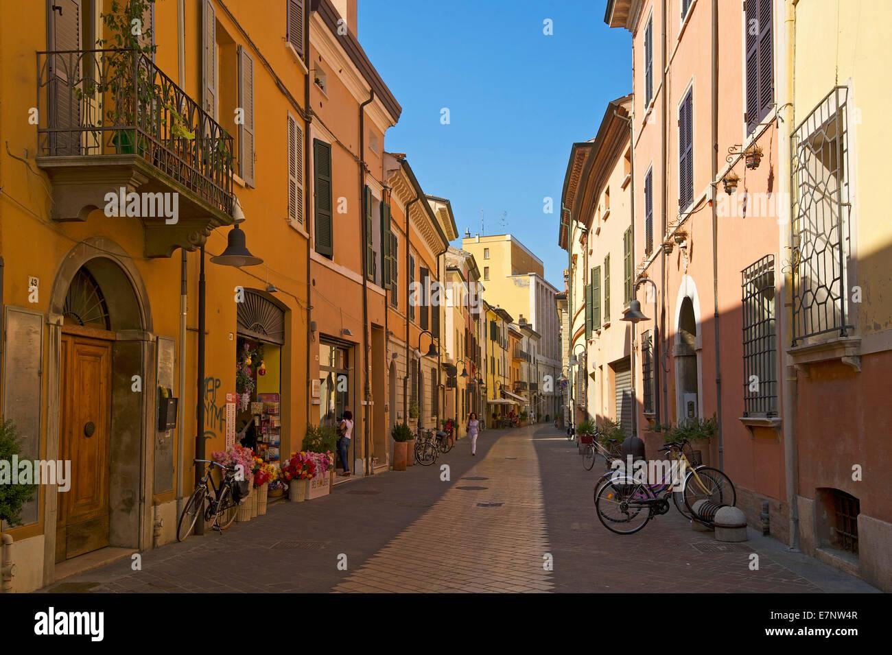 Adriatic, Italy, Europe, outside, day, nobody, Emilia-Romagna, Ravenna, lane, house, home, building, architecture - Stock Image