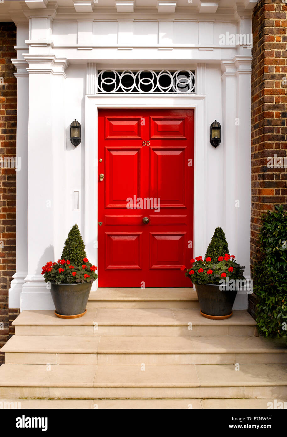 A traditional British front door Stock Photo
