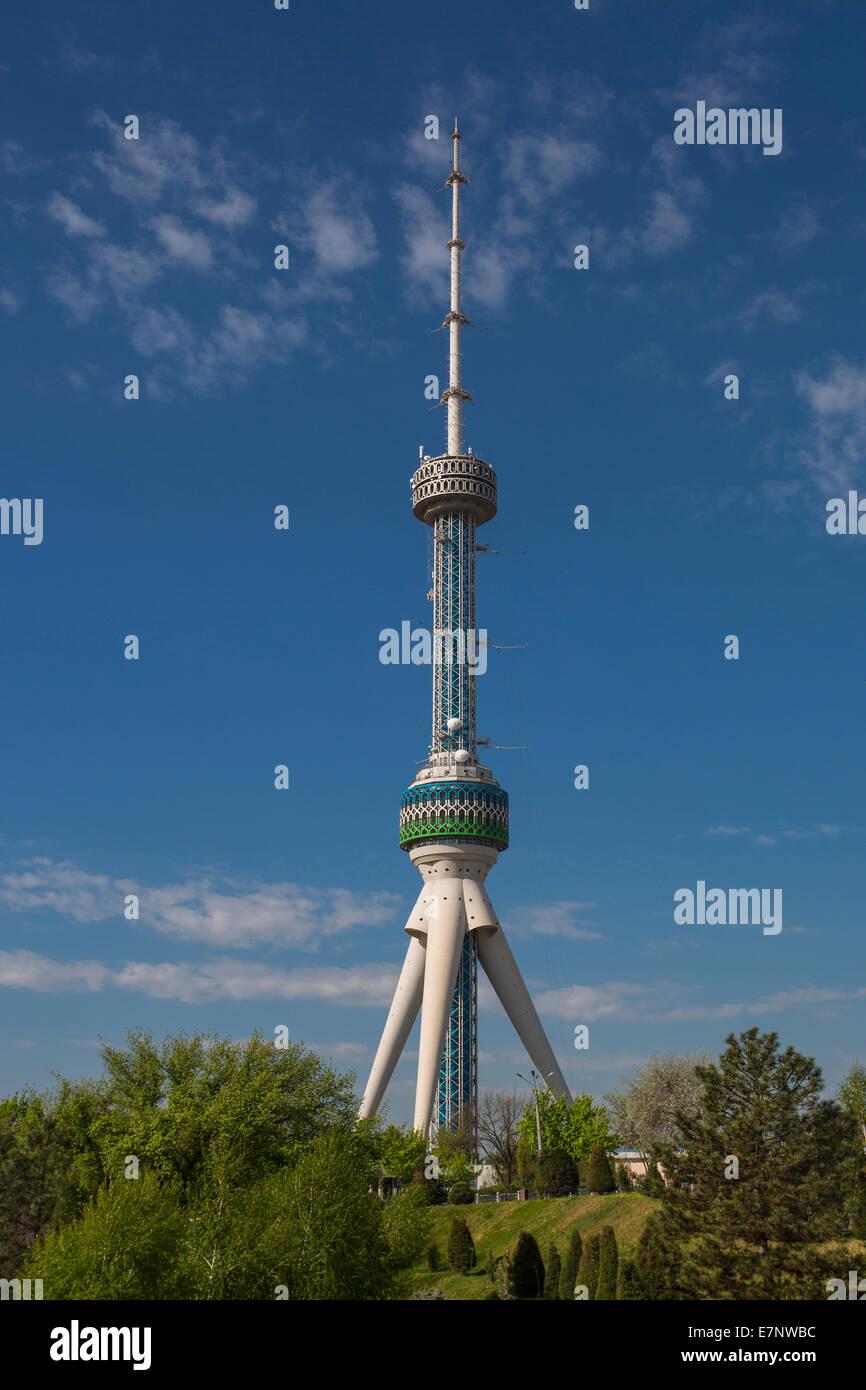 Tashkent, City, Tashkent, TV, television, Uzbekistan, Central Asia, Asia, architecture, communication, observatory, - Stock Image