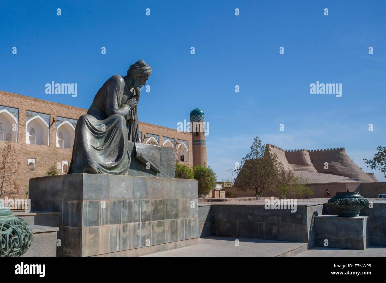 world heritage, Al-Khorezmi, Khiva, Khorezm, Region, Uzbekistan, Central Asia, Asia, architecture, city, history, - Stock Image