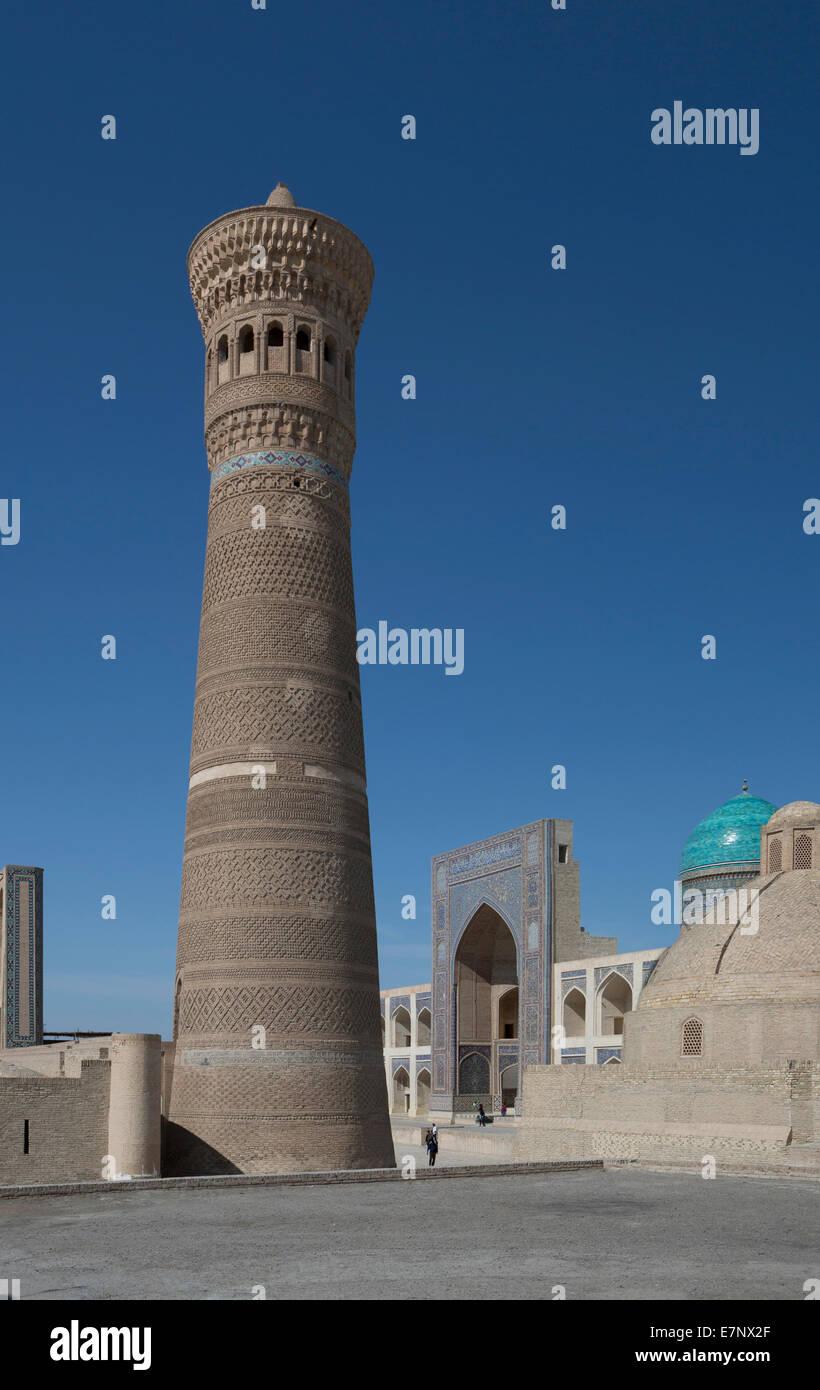 world heritage, Bukhara, City, Kalon, Medressah, Miri-Arab, Uzbekistan, Central Asia, Asia, architecture, city, - Stock Image