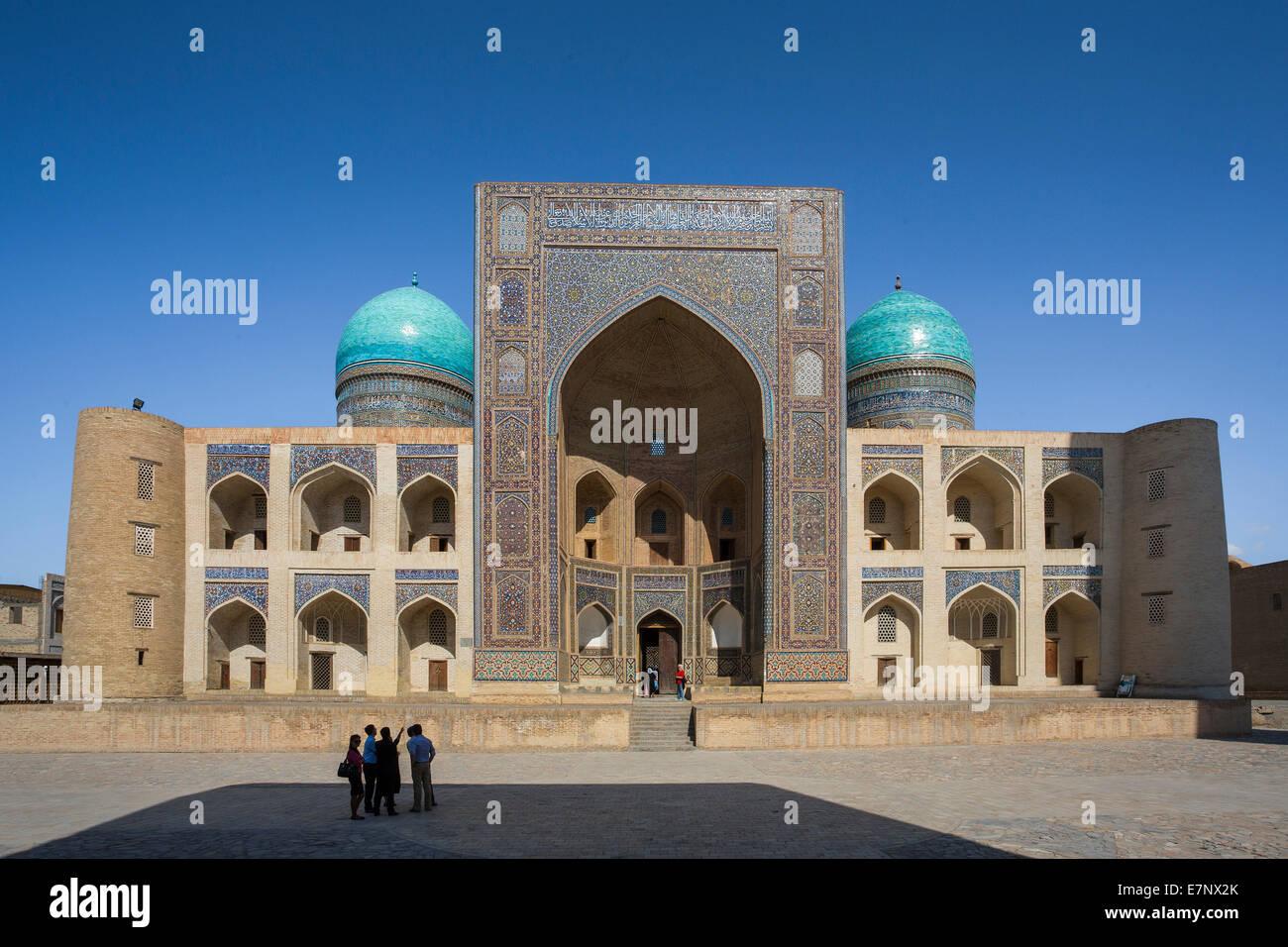 Bukhara, Medressah, Miri Arab, Uzbekistan, Central Asia, Asia, architecture, city, colourful, history, silk road, - Stock Image