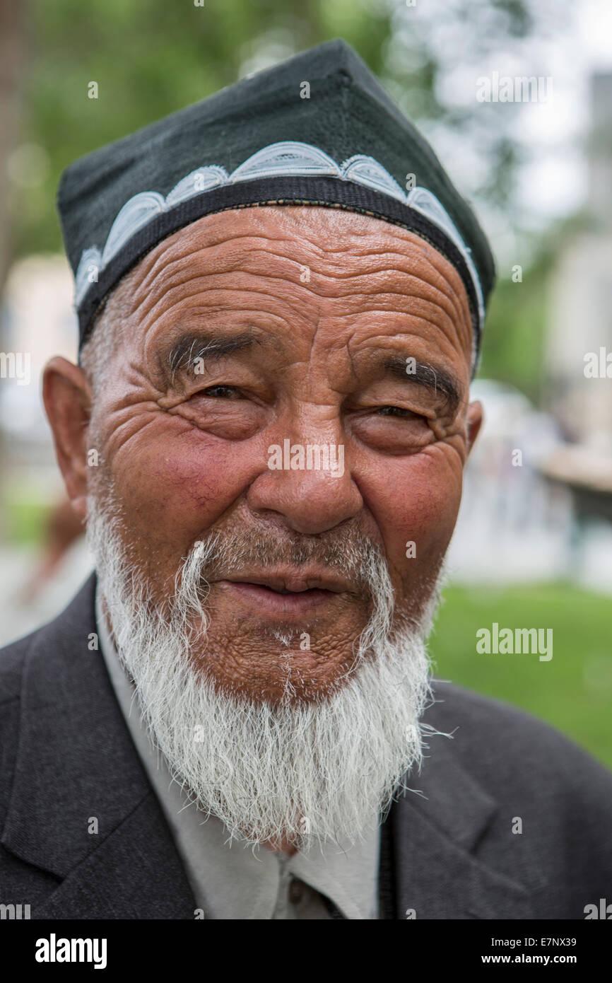 Bukhara Uzbekistan Central Asia Asia Beard Face Man