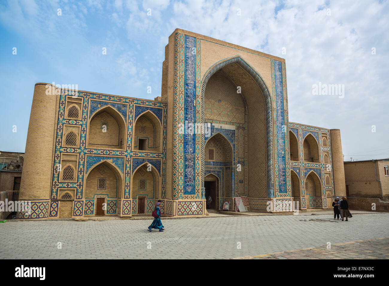Abdul Aziz, Bukhara, Medressah, Uzbekistan, Central Asia, Asia, architecture, city, colourful, history, khan, medresa, - Stock Image