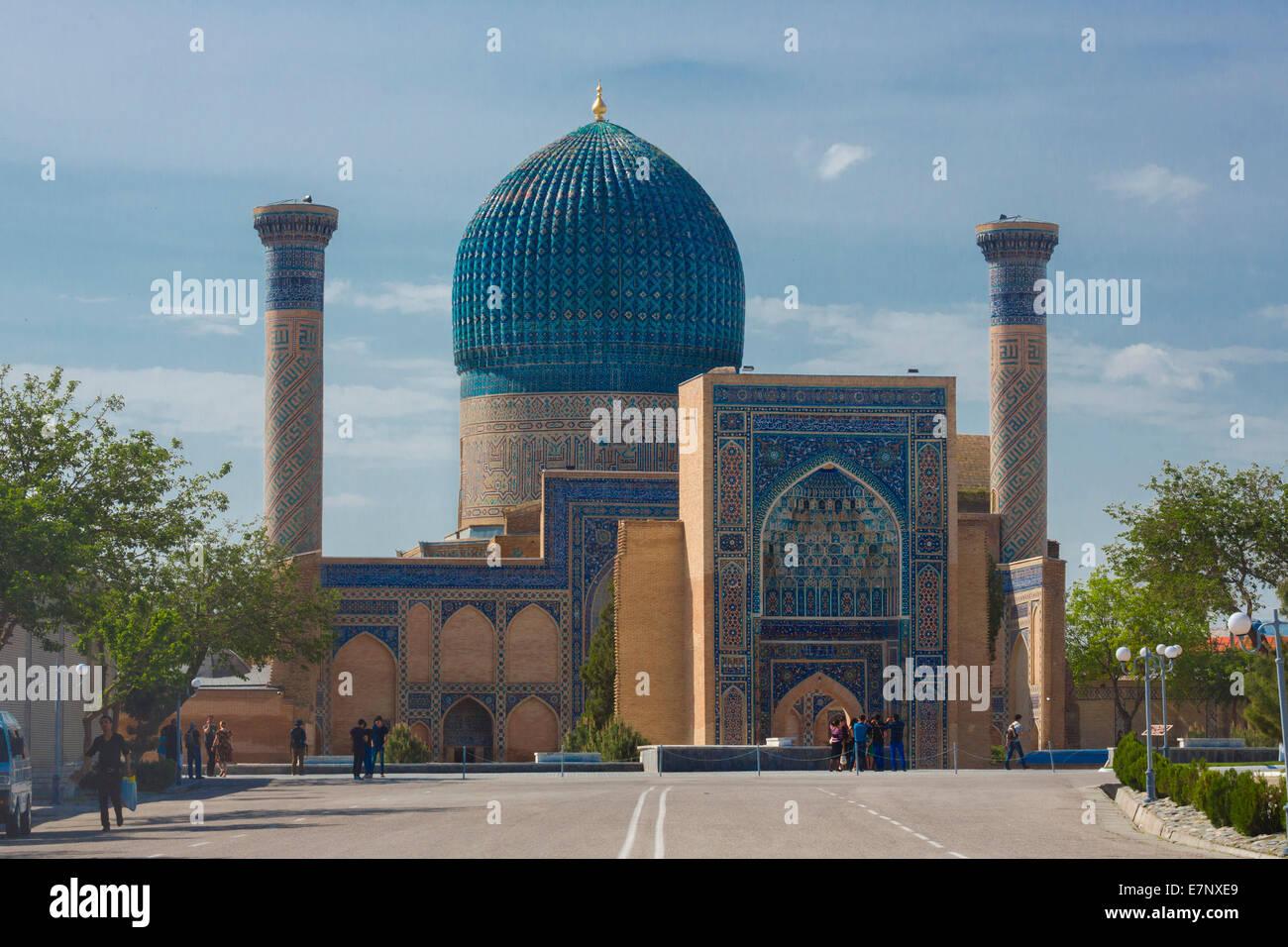 famous architecture in the world. World Heritage, Amir Timur, Mausoleum, Samarkand, City, Uzbekistan, Central Asia, Architecture, Colourful, Famous, History Famous Architecture In The R