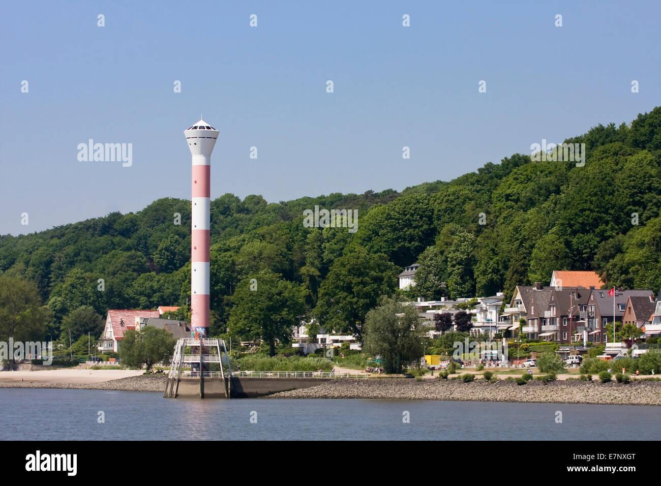 Blankenese, blue, FRG, federal republic, German, Germany, outside, Elbe, Elbufer, European, Europe, rivers, flows, Stock Photo