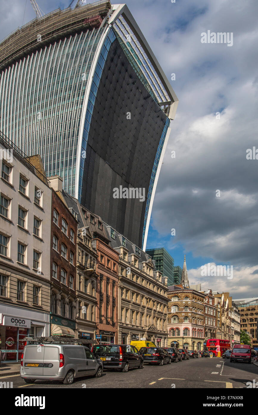 Cannon street, London, England, The City, UK, architecture, street, tourism, travel, weird - Stock Image