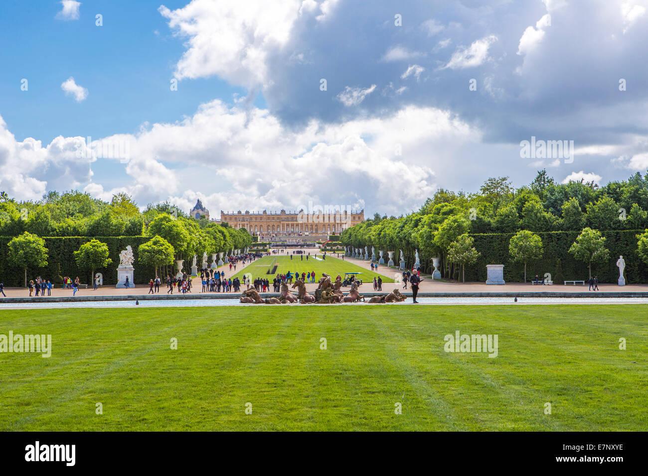 City, France, Palace, Versailles, World Heritage, Gardens, Grass, Green