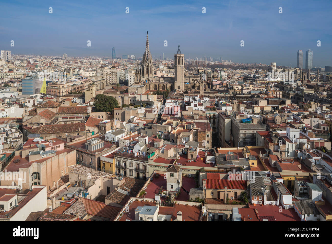 Barcelona, Catalonia, Cathedral, City, Ciutat Vella, Old Town, Spain ...